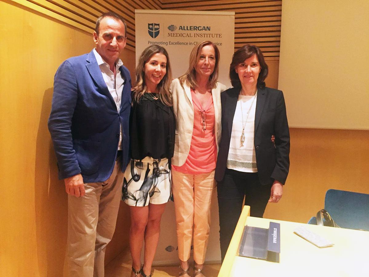 Con los Drs Vicente Paloma, Roser Garreta y vaina Aita al finalizar el Expert Meeting sobre toxina botulínica - Barcelona 2016