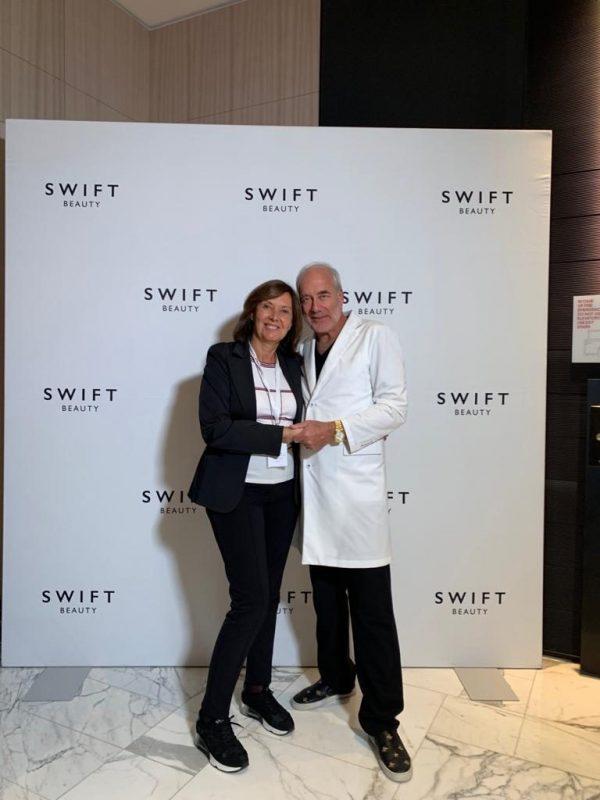 Dra Cristina Villanuevva con el Dr Swift