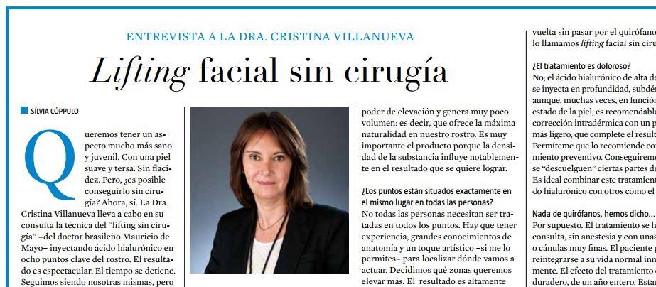 prensa lifting facial sin cirugia